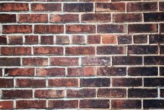 Brick Wall. Dark brick wall background texture Royalty Free Stock Images