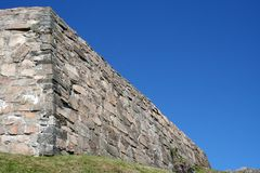 Brick wall. A brick wall as a part of an old fortress in Halden, Norway Royalty Free Stock Images