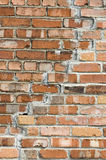 Brick wall. A close up view of a cracked brick wall royalty free stock photography