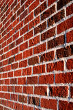 Brick Wall. Side view of brick wall Stock Photography