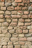 Brick wall. An old weathered brick wall Royalty Free Stock Photos