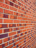 Brick Wall. A red brick wall shot with a perspective point of view Royalty Free Stock Image