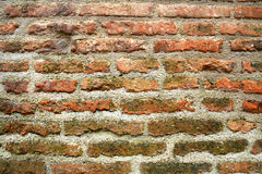 Brick wall. Close-up of an old brick wall Stock Photos