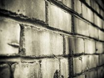 The brick wall. In dramatic colors Stock Images