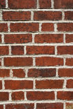 Brick wall. Close up of brick wall with white mortar Stock Photos