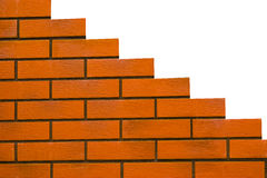 Brick wall. Wall of the orange bricks over the white Royalty Free Stock Image