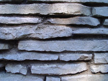 Brick Wall. Closeup of limestone wall Royalty Free Stock Photography
