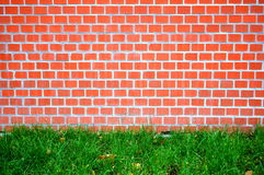 Brick wall. Of a house as a background Stock Images