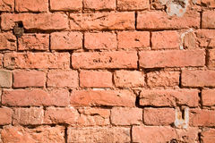 Brick wall. Red huge wall out of the brick Stock Images