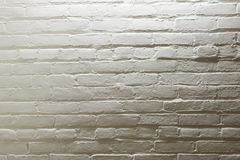 Brick Wall. Old white painted brick wall Royalty Free Stock Images