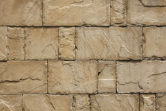 Brick Wall. Image of a sandstone brick wall, great as texture and background Royalty Free Stock Photos