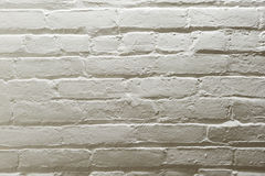 Brick Wall. Old white painted brick wall Stock Photography