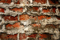 Rough brick wall. A rough brick wall background stock images