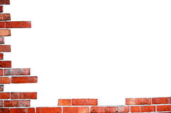 Brick wall. Old brick wall frame with white text space Royalty Free Stock Photography