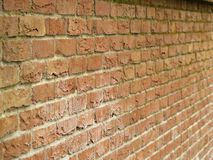 Brick wall. A brick wall in perspective Stock Photo
