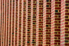 Brick Wall. Stepped brick wall Royalty Free Stock Images