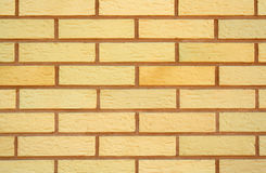 Brick wall. Yellow new brick wall Royalty Free Stock Image