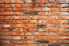 Brick wall. Abstract background with old red brick wall stock photography