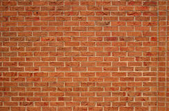 Brick Wall. Plain Red Brick wall for background Stock Photo