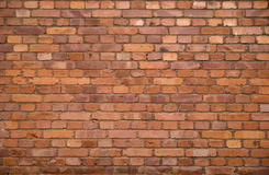 Brick Wall. A red brick wall background Royalty Free Stock Photography
