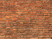 Brick wall. Brick red wall background. Texture Stock Photos