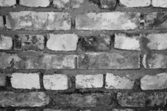 Brick wall abstract background grayscaled
