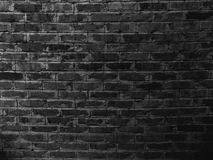 Black brick wall texture background. Abstract building wallpaper backgrounds Stock Images