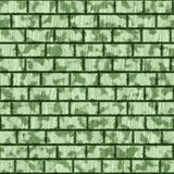Brick wall. Abstract generated green brick wall stained seamless background Royalty Free Stock Photo