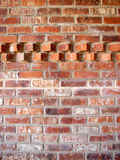 Brick wall with accent pattern. Brick wall with an accent pattern in the top - vertical orientation Royalty Free Stock Photography