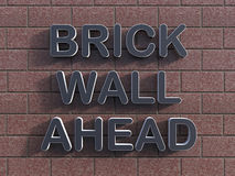 Brick wall ahead concept Royalty Free Stock Images
