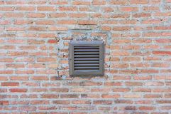 Brick Wall with Air Vent Stock Photos