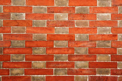 Brick wall with alternating pattern Stock Images