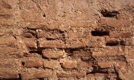 Brick wall in an ancient building in Morocco Stock Photo