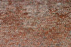 Brick wall on ancient fortress as background template royalty free stock images
