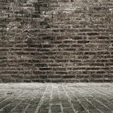 Brick Wall And Floor Royalty Free Stock Photo