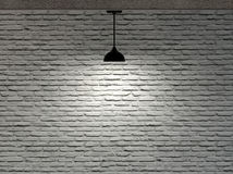 Free Brick Wall And One Ceiling Lamp Royalty Free Stock Photos - 90277938