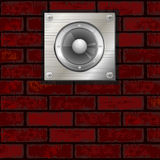 Brick Wall And Speaker Royalty Free Stock Photography