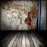 Brick Wall And Wood Floor Royalty Free Stock Photo