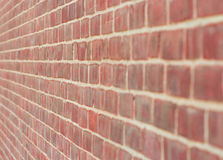 Brick wall at angle Royalty Free Stock Image