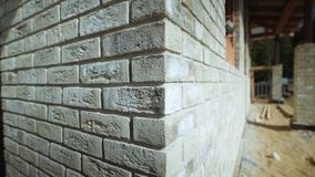 The brick wall animation. stock video