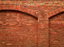 Brick wall with arch Royalty Free Stock Photo