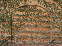 Brick wall with arch Royalty Free Stock Photography