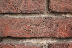 Brick wall architectural background texture (fragment) Stock Images