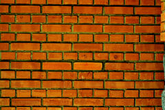 Brick wall of the architectural structure Stock Images
