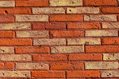 A brick wall as a background. royalty free stock image