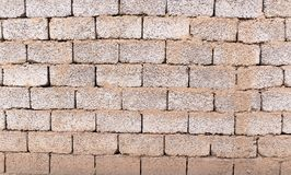 Brick wall as background with slag. Photo of an abstract texture Stock Images