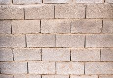 Brick wall as background with slag. Photo of an abstract texture Royalty Free Stock Images