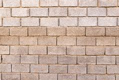 Brick wall as background with slag. Photo of an abstract texture Royalty Free Stock Photo