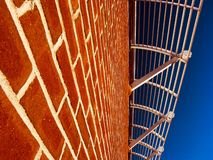 Brick wall and awning Royalty Free Stock Photo