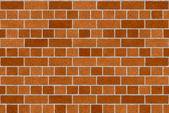 Brick Wall background. Orange and red color brick wall texture at house Stock Image